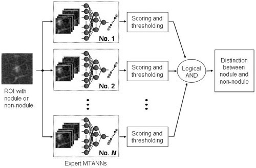 Computerized Detection of Lung Nodules in Low-Dose CT, Part II: Usefulness of Multiple Massive-Training Artificial Neural Networks (Multi-MTANNs)